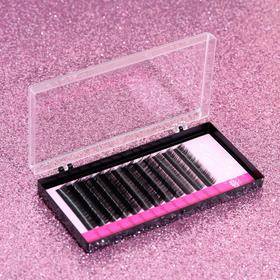 A set of lashes for increasing, 8, 10, 12 mm, thickness 0.1 mm, bending