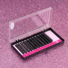 A set of lashes for increasing, 8, 10, 12 mm, thickness 0.10, bending D