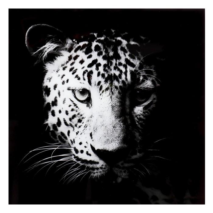 """Картина на стекле """"Взгляд леопарда"""""""