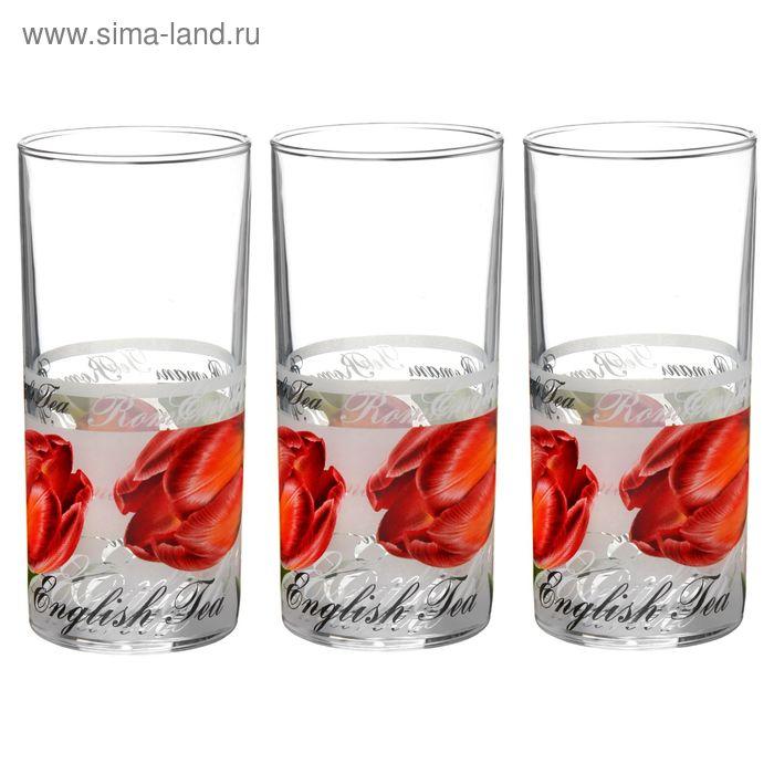 """Набор стаканов 300 мл """"Тюльпаны"""", 3 шт"""
