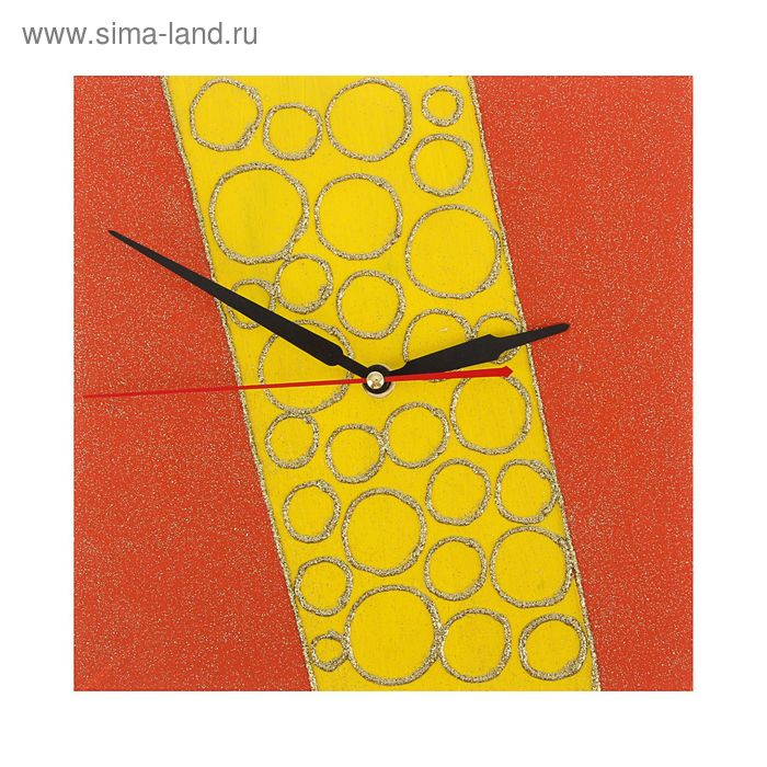 """Часы настенные квадрат """"Декор"""" 25х25 см 114-2"""