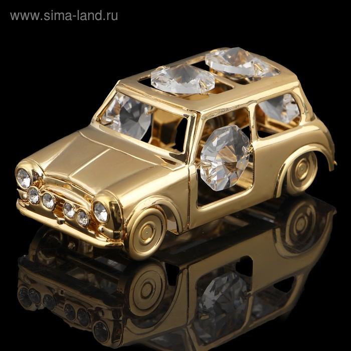 Сувенир «Автомобиль», 7х3,5х3,5 см, с кристаллами Сваровски