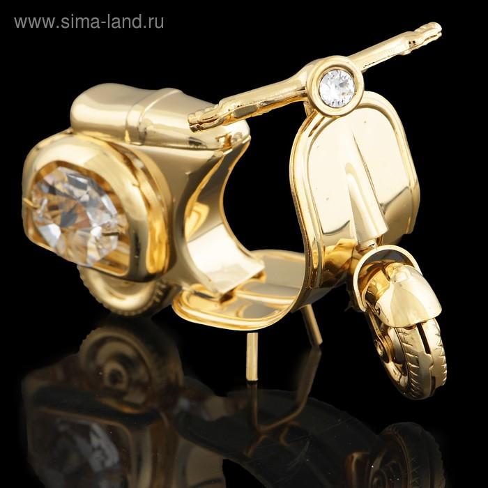 Сувенир «Скутер», с кристаллами Сваровски, 4 см