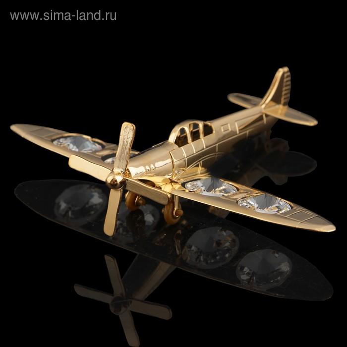 Сувенир «Самолет», 11х8х2 см, с кристаллами Сваровски
