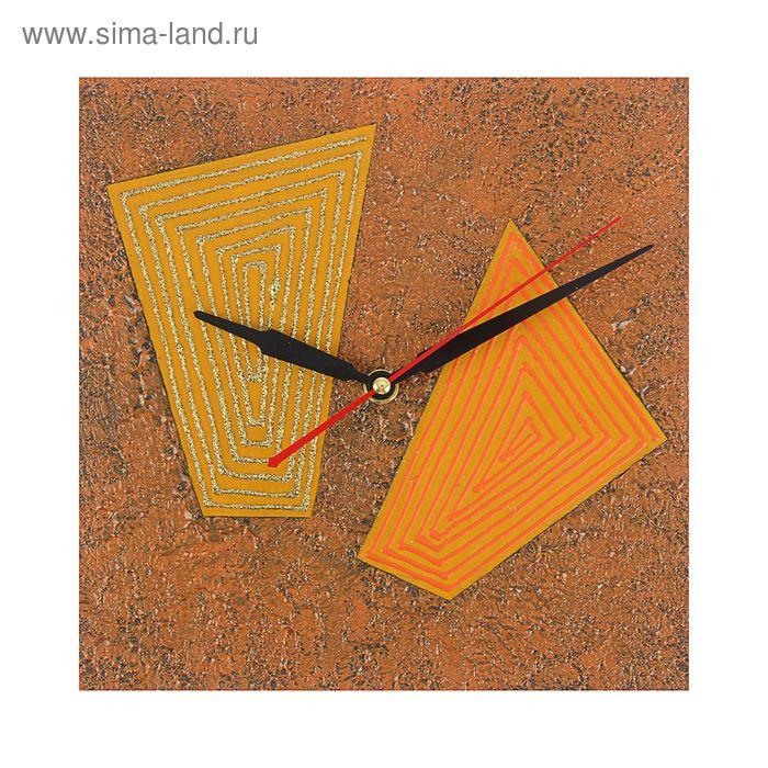 """Часы настенные квадрат """"Декор"""" 25х25 см 105-1"""