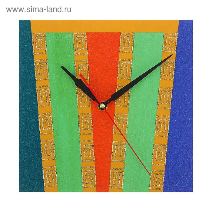 """Часы настенные квадрат """"Декор"""" 25х25 см 102"""