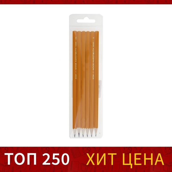 Набор карандашей чернографитных разной твердости K-I-N 1696 6 штук 2H-2B